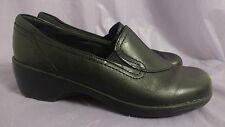 CLARKS BENDABLES Women's 38629 May Poppy Black Leather Slip-ons Size 6.5 EUC