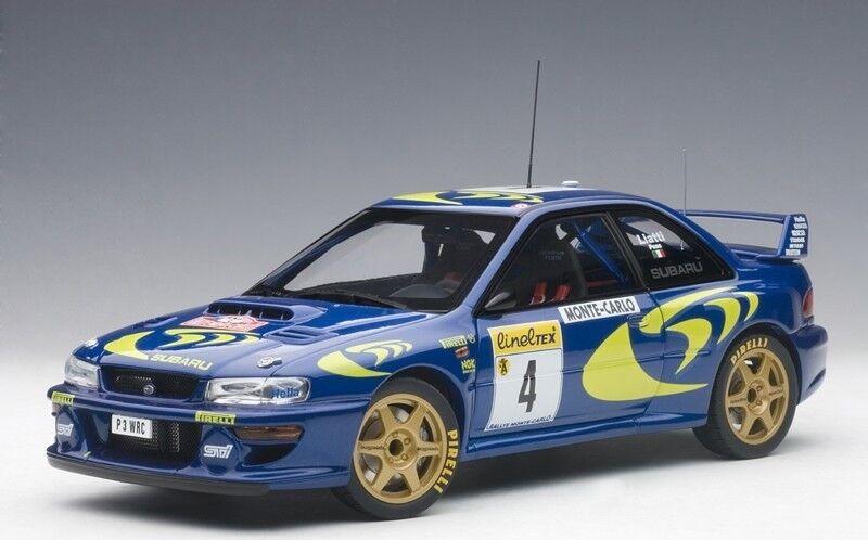 Autoart 89791 - 1 18 subaru impreza wrc 1997 rally monte carlo  4 (liatti ...)