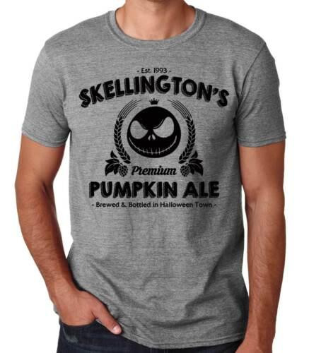 Camiseta Hombre Jack Skellington Skellington/'s Pumpkin Ale t-shirt manga corta