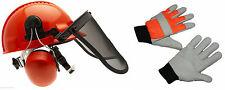 Tronçonneuse casque de sécurité Avec Visière Maille D'acier & XL Gants