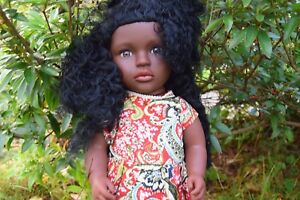 "Sammar Gifts LARGE 16/"" BABY GIRLS AFRO AFRICAN BLACK DOLL REAL LOOK 40CM"