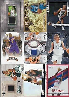 HUGE SPORTS CARD COLLECTION BASKETBALL AUTO GAME USED JERSEY PARKER PIERCE