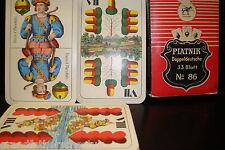 GENUINE PIATNIK DOPPELTSCHE 33 BLATT NO 86 CARD GAME DOUBLE DUTCH SET VINTAGE