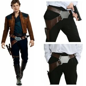 XCOSER-Han-Solo-Buckle-Belt-Star-Wars-With-Gun-Holster-Cosplay-Costume-Props-New