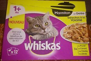 Sachets (84) Marmiton 1 An Volaille En Gelée Pour Chat - Whiskas 84x85g
