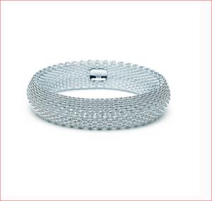 Tiffany-amp-Co-Somerset-Mesh-Bangle-Bracelet-Sterling-Silver-Retired