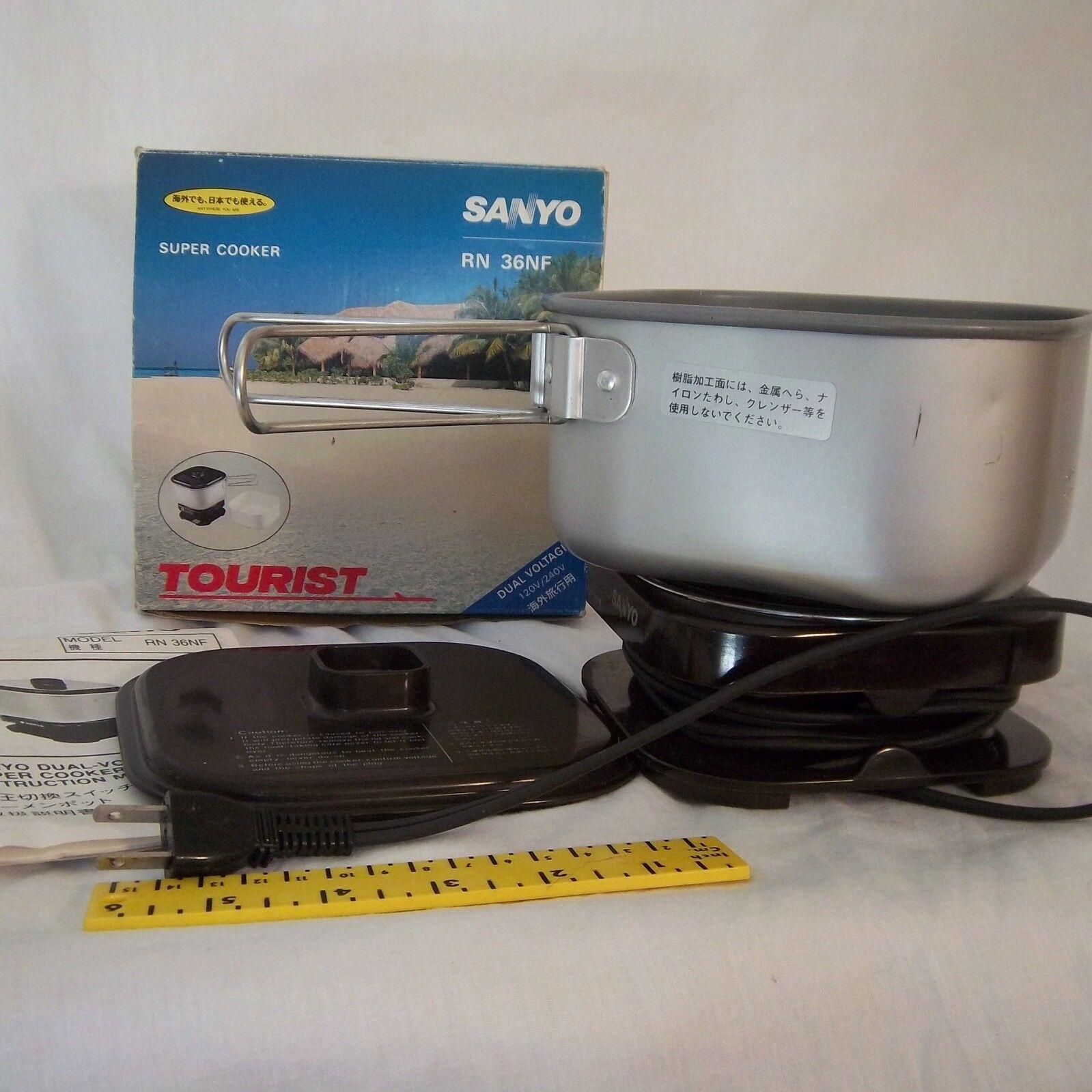 Vintage Sanyo Tourist Super Cooker Dual Voltage 120v 240v RN36NF Dorm
