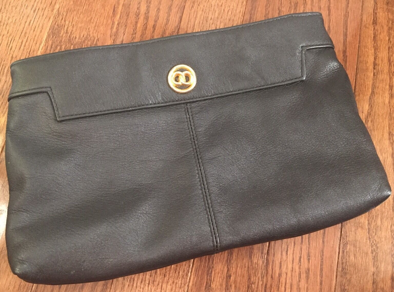Cabin Creek Black Clutch Purse Genuine Leather