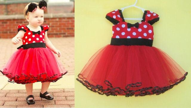 Summer Girl Kids Baby Newborn Infants Polka Dot Dress Skirt Tutu Clothes 0-18M