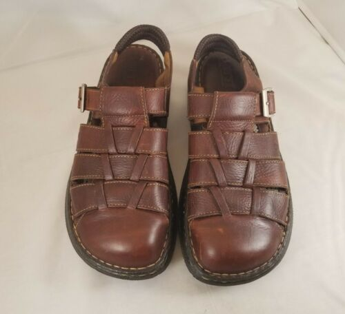 Men's Handcrafted Leather Sandals Size 11 M/W worn