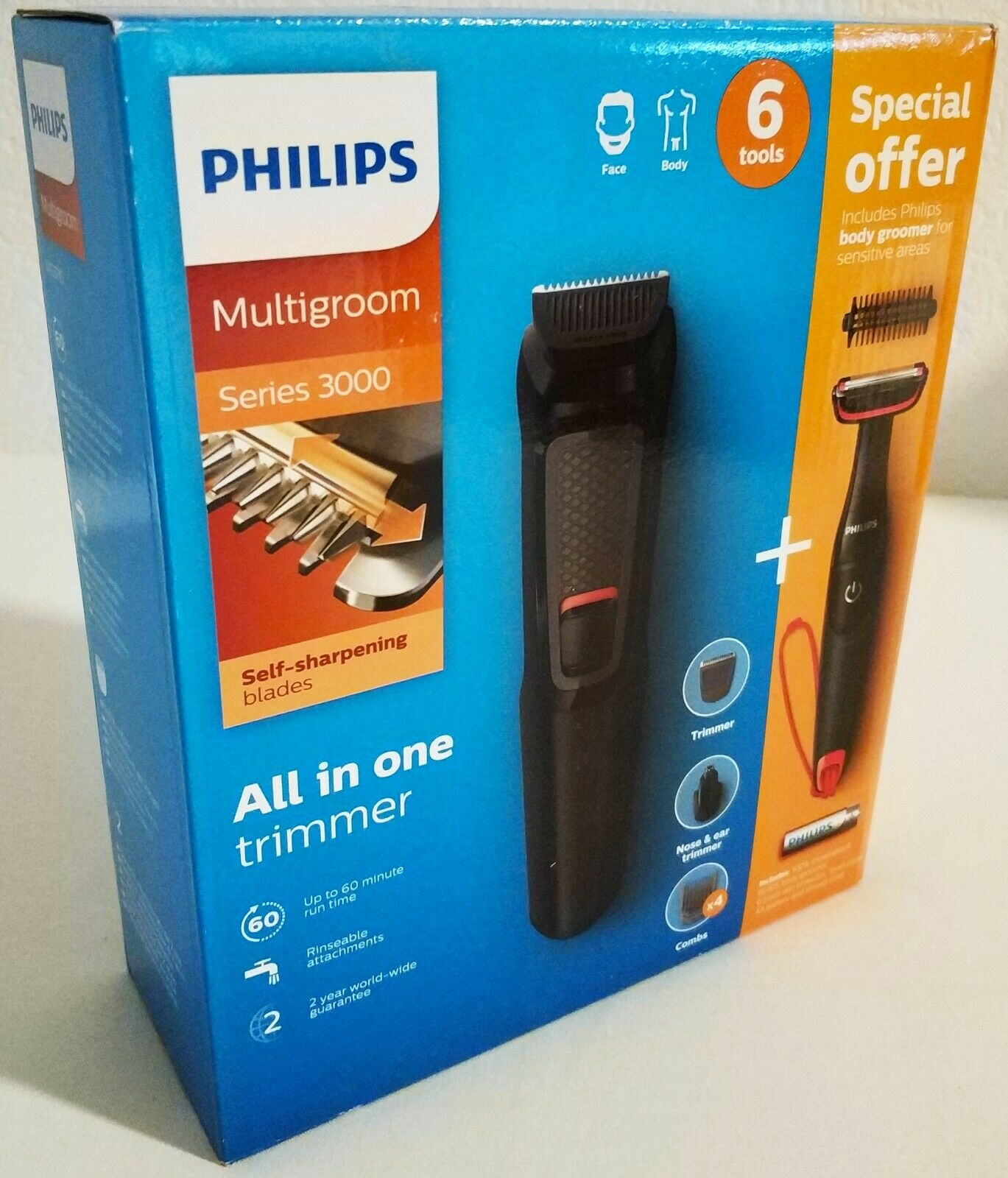Philips Multigroom Series 3000 MG371085 Bartschneider Rasierer Body Trimmer
