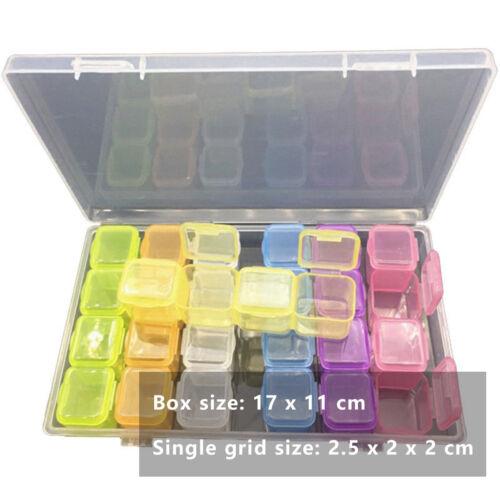 28DIY Fach Aufbewahrungsbox Behälter Schmuckkasten Behälter Handwerk Neu