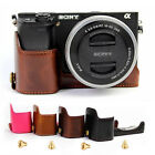 PU Leather Camera Bottom Grip Case Half Cover Protector F Sony Alpha A6300 A6000
