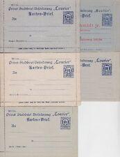 Città postale Magdeburg tutta cose raccolta * 5x carte lettera, corrispondenza privata lot