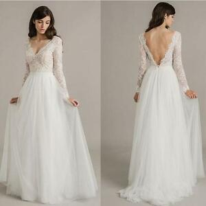 Vintage Western Country Ivory Lace Wedding Dresses Bohemian Long ...