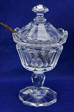 "William Yeoward EUNICE Covered Compote or Jar w/Wooden Spoon 7"" NWT"