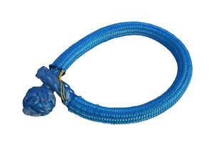 Blue 6mm*80mm quick release soft shackle,Synthetic Shackle,ATV Winch Shackles