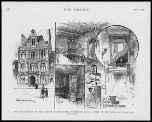 1887-Antique-Print-LONDON-Bloomsbury-Square-College-Preceptors-Prince-91