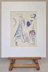 MARC-CHAGALL-Mourlot-Farblithographie-Anno-1965-Der-Feuervogel-Oiseau-de-feu