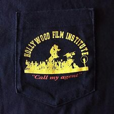 VTG 90's-HOLLYWOOD FILM INSTITUTE-CALL MY AGENT POCKET 2 SIDED MURINA T-SHIRT-XL