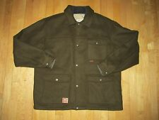 Sorel Green Wool Hunting Field Jacket w/ Insulated Quilted Vest Men's XL NYZ18