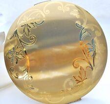 Elgin American Compact Gold Tone Powder Mirror Vintage Vanity Large & Round USA