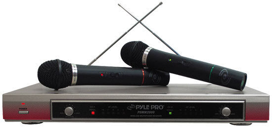 Pylepro Pdwm 2000 Sistema de Micrófono Inalámbrico Vhf Vhf Vhf Dual 0c1078