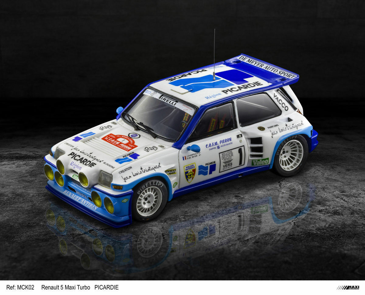 MaxiCollection Resin kit Renault 5 Maxi Turbo -1 24 scale - PICocheDIE (Kit nº12)