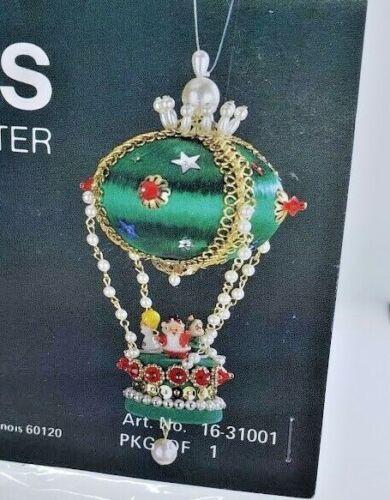 LeeWards FROSTY/'S FLIGHT Balloon Vintage Sequin Bead Christmas Ornament Kit Grn