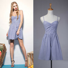 [[Blue S]Sexy Women's Summer-Casual Sleeveless Party Evening Cocktail Dress