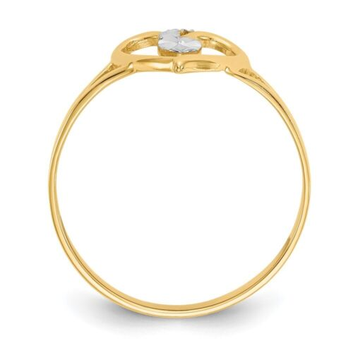 Genuine 14k Yellow Gold Cut-Out Heart Ring  0.99 gr