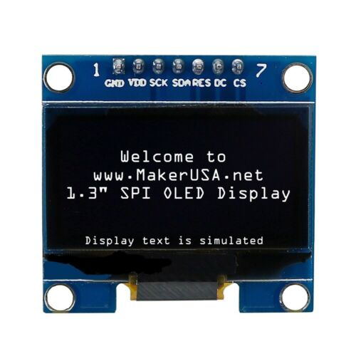 """White HQ 1.3/"""" 128*64 OLED Graphic Display Module SPI LCD"""