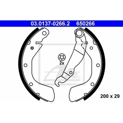 53 54 58 59 56 57 Ate bremsbackensatz Opel Astra F Opel Astra F CC Opel C