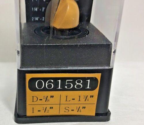 "Core Box Bits Sommerfeld/'s Tools Bit 5//16/"" CR 5//8/"" CD  1//4/"" SH # 061581 NEW"