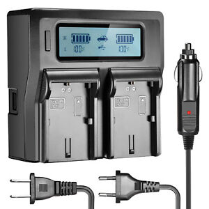 Neewer-Dual-LCD-Battery-Car-AC-Charger-for-2-Canon-LP-E6-Batteries-for-7D-6D-5D