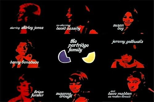 1970s PARTRIDGE FAMILY TV show end credits magnet - new!