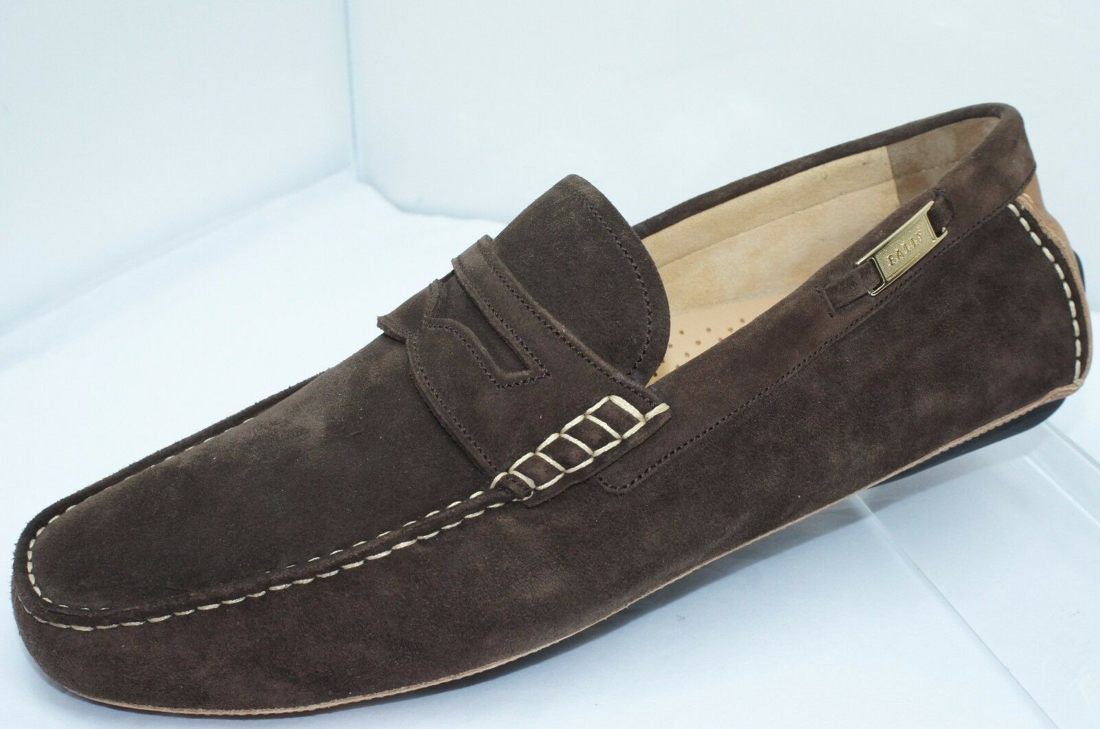 New Bally Mens scarpe Wilwood Loafers Dimensione 9.5 Marroneee Drivers Suede Sale Gift