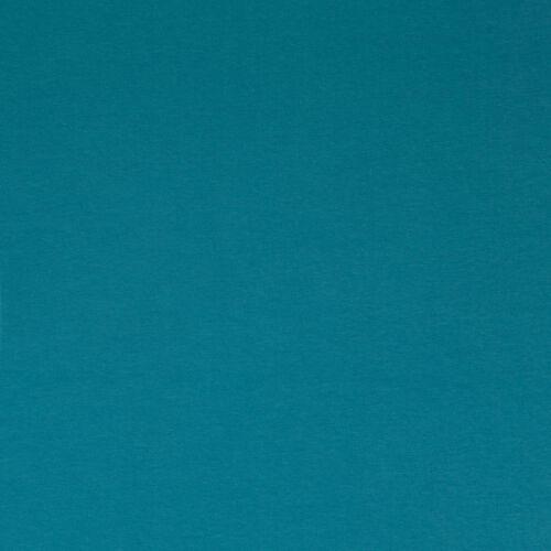 ♥ Jersey uni petrol azul ♥ sustancia METERWARE algodón 50x160-p00mw0934