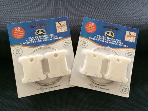 DMC Plastique Bobines avec Anneaux 1 X Pack de 28 ou 2 x 28 Packs