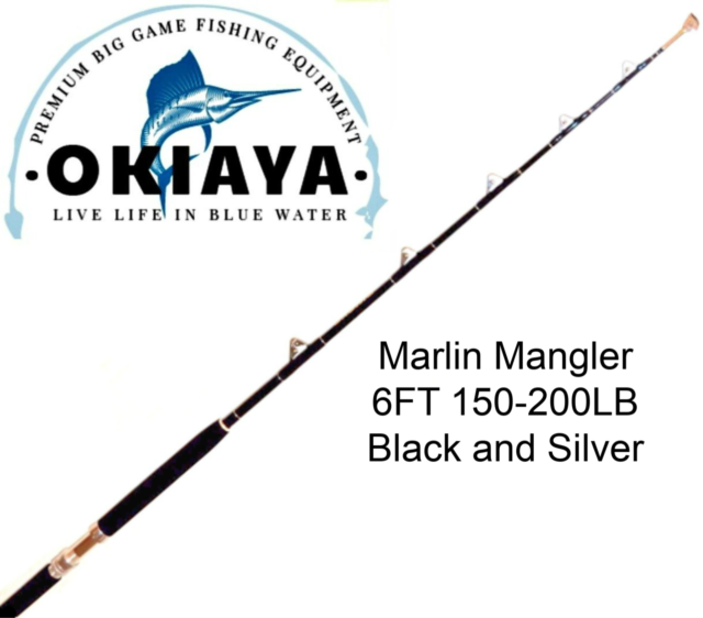 "OKIAYA COMPOSIT 150-200LB ""MARLIN MANGLER"" SALTWATER BIG GAME ROLLER ROD"