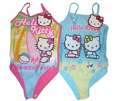 Baby Girls Green Swimming Costume with Hello Kitty Detail