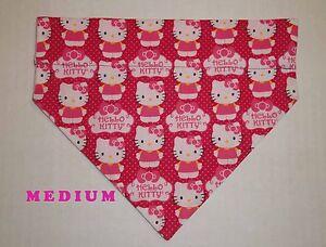 Dog Collar Bandana Cat Collar Bandana Pink Polka Dots Gift for Pet Over the Collar Bandana Slide on Bandana Dog Scarf Cat Scarf