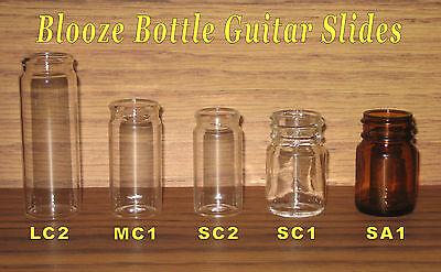 """Short 2/"""" Amber SA1-3 Pack New Blooze Bottle Glass Guitar Slide"""