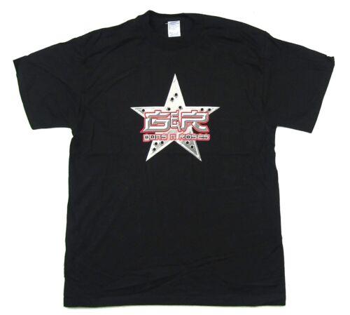 Guns N Roses Bullet Star Holes 2002 2003 Tour Black T Shirt New Official GnR