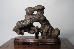 1034 Suiseki Bonsai Natural Chinese Black Stone Qsz62134616 Ebay