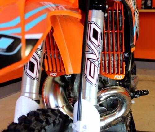 GUARD Orange Flo Motorsports BRACE KTM Husaberg Husqvarna  RADIATOR GUARDS
