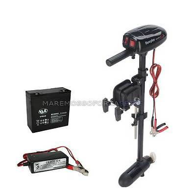 MOTOR OUTBOARD ELECTRIC SEVYLOR SBM18 KIT WITH BATTERY 24A AND CHARGER