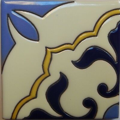 Mexican Tiles High Relief Ceramic Cuerda Seca Malibu Santa Barbara Tiles CS-92