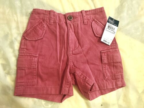 $40 Ralph Lauren Polo Cargo Short For Baby Size 18M Coral