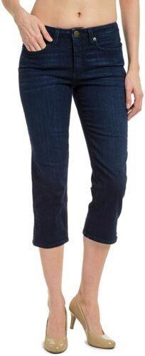 Spanx Denim Capri Jeans Cotton Dark Dipped 10//30
